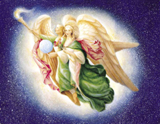Archangel Raphael and Mother Mary